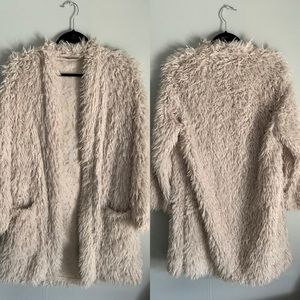 Zara Faux Fur Fuzzy Overcoat